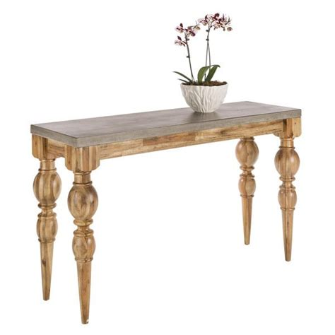 turned leg console table brown turned legs wooden console table