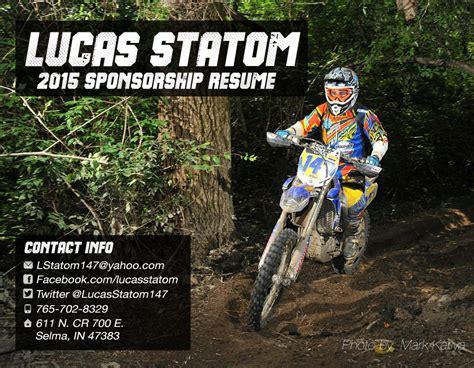 Motocross Sponsorship Resume by Motocross Resume Sle For Sponsorship Motocross Sponsor Resume Sponsorship Resume Template