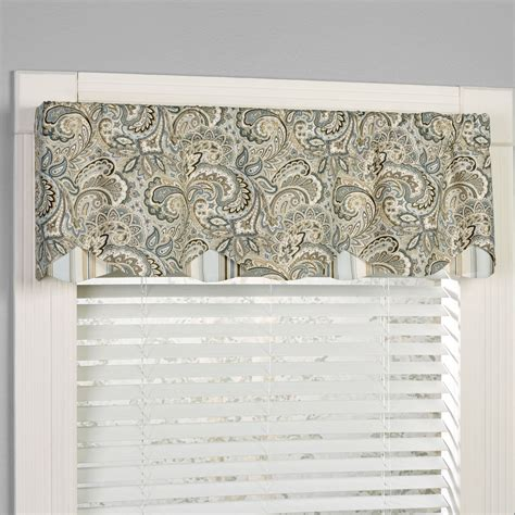 paisley valance curtains morelia paisley window valance