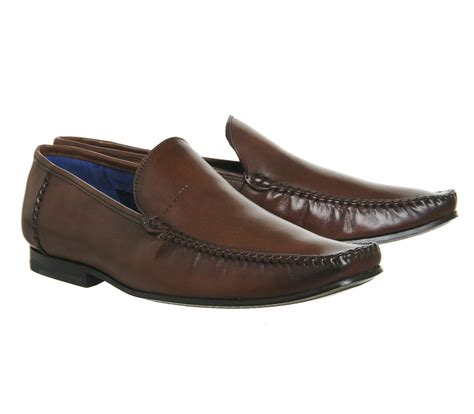 ted baker loafers ted baker bly 8 loafers in brown for lyst
