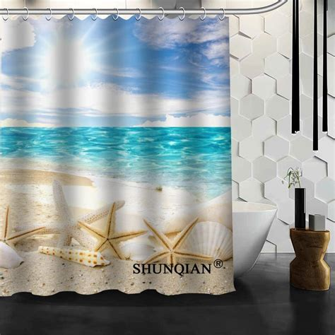 Seashell Shower Curtain Bathroom Set Get Cheap Seashell Shower Curtain Aliexpress Alibaba