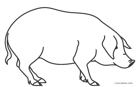 coloring page of a pig free printable pig coloring pages for cool2bkids