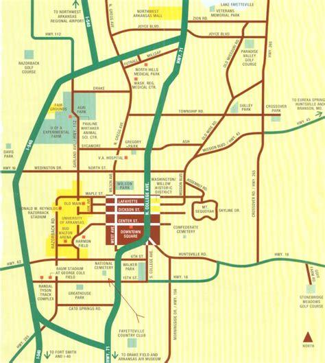 us map fayetteville arkansas stac