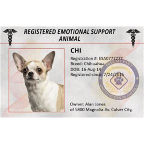 how to register as emotional support animal service dogs registry