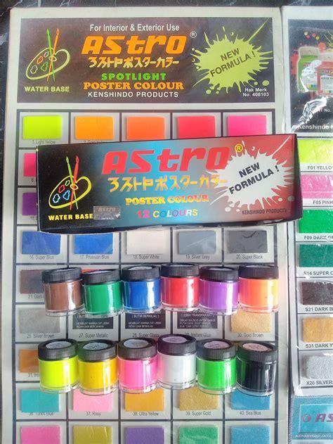 Paint Cat Air 12 Warna jual astro cat air spotlight poster colour mini set 12 warna new formula sentral stationery di