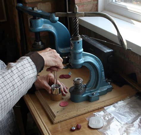 Upholstery Button Press by Quality Yew And Mahogany Reproduction Desk Chairs