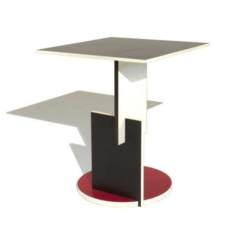 schroeder one low table by gerrit rietveld for cassina