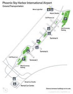 Phoenix Sky Harbor Map by Phx Phoenix Sky Harbor International Airport Terminal Map