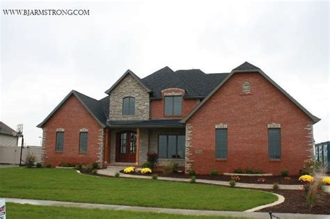 23 best images about red brick homes on pinterest red brick houses with rock brick and stone custom home