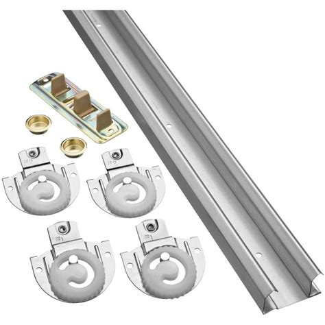 closet sliding door hardware shop stanley national hardware 72 in bi pass door sliding closet door track kit at lowes