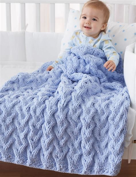 bernat afghan knitting patterns bernat baby blanket bulky yarn crochet patterns my