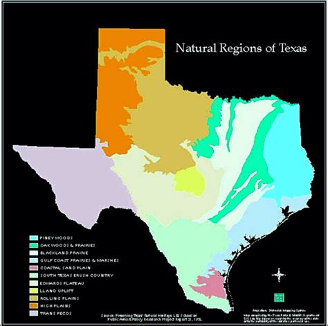 northern texas map the