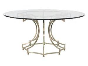 Dining Room Table Bases For Glass Tops Bernhardt Dining Room Dining Table Glass Top With Metal Base 360 773 998 E60 Woodchucks