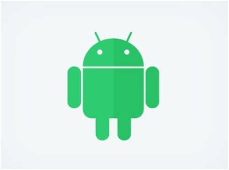 Free Flat Android Robot Logo Psd Titanui Android Flat Design Template
