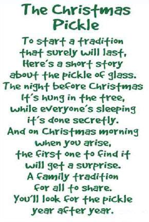 christmas pickle poem      yearly highlights      christmas eve