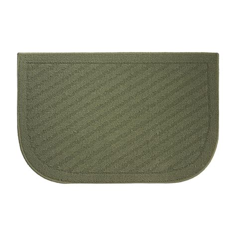 Green Kitchen Rugs Creative Home Ideas Griddle Textured Loop Green 18 In X 30 In Slice Wedge Shaped Kitchen