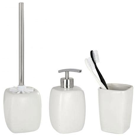 ceramic bathroom accessories sets wenko faro ceramic bathroom accessories set white at