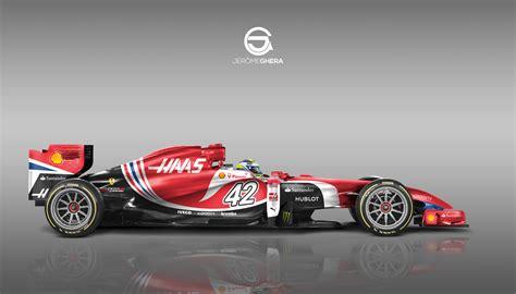 livery f1 f1 design livery concept 2016 haas f1 team by djecrea com