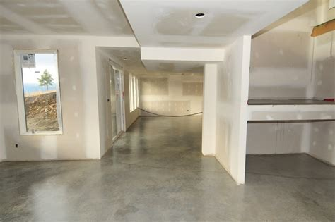 basement concrete floors naturally look amazing simple