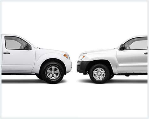 nissan tacoma truck nissan frontier vs toyota tacoma compare trucks
