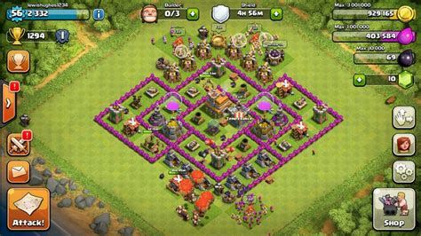 layout level 7 town hall base layout tips