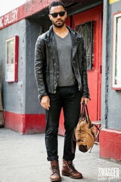 s black leather jacket style