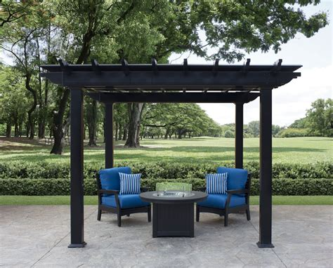 black pergola hardware urbana vinyl pergolas ohio hardwood furniture