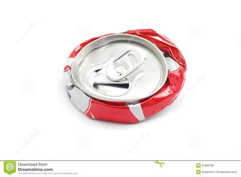 crushed by crushed soda can royalty free stock photos image 21800768