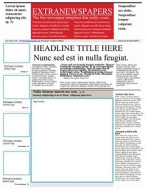 free newspaper template for elementary students long