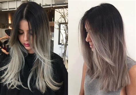hairstyles with grey ombre magnifying ombre grey hair colors pretty hairstyles com