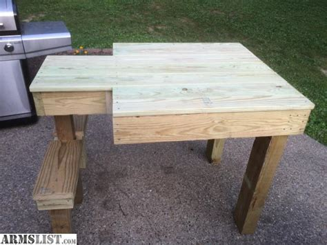 wood shooting bench armslist for sale treated wood shooting bench