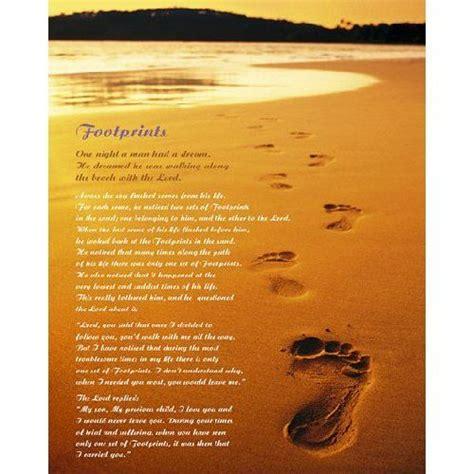 footprints   sand poem laminated footprints sand