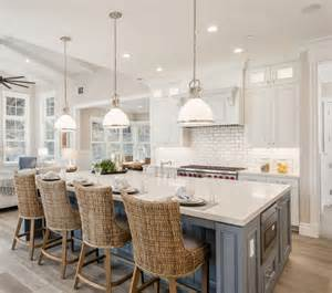 Kitchen Island Pendants by Newly Built Hamptons Style Home Home Bunch Interior