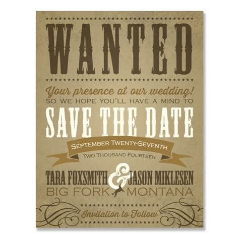 Western Save The Date By The Green Kangaroo Inc Invite Designs 13 Pinterest Kangaroos West Invitation Template
