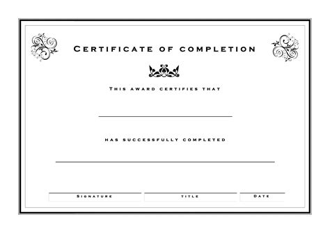 formal certificate template free formal certificate of completion templates at