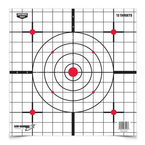 printable rifle sight in targets dirty bird 12 quot sight in paper targets 13 sheet pack