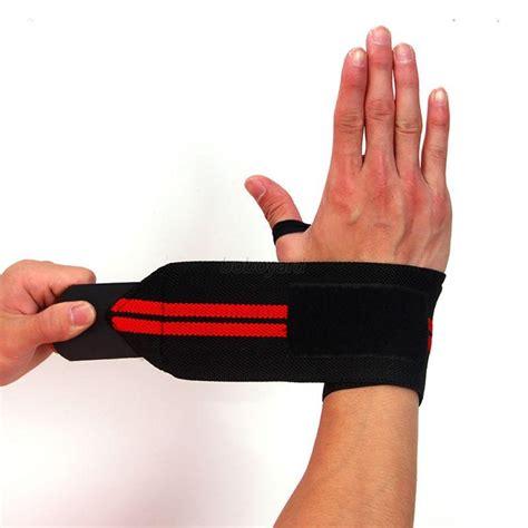 Wrist Band Lifting Support Fitness Tali Beban weight lifting fitness wrist brace wrap support bandage wristband