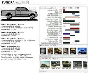 toyota interior color codes tundra 2000 2006 color chart toyota tundra forums