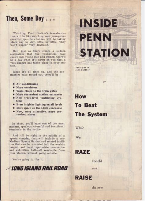 Penn Station Interior Map by Penn Station Pathfinder Ephemera