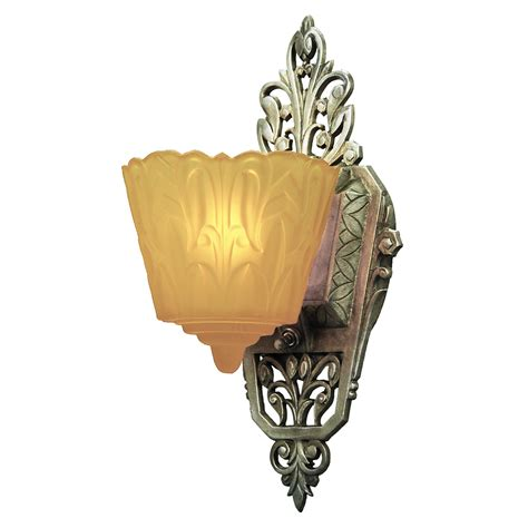 Art Deco Wall Sconces Lighting Art Deco Original Set Of 4 Slip Shade Wall Sconces Lights