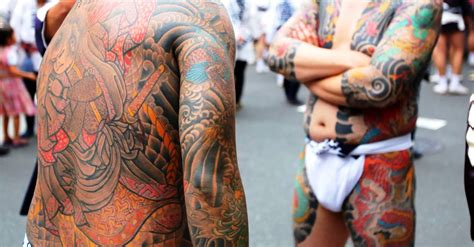 yakuza member tattoo tattoo trouble yakuza arrested in bathhouse incident