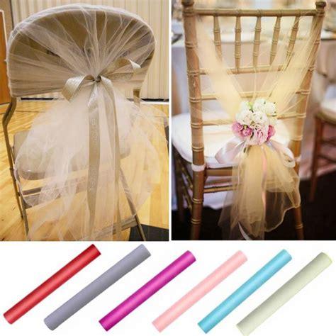 noeud chaise mariage noeud de chaise mariage pas cher en tulle 80cm x 25m 232 tres
