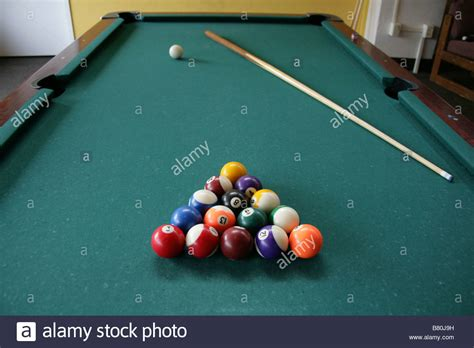 Pool Table Set Up For A Stock Photo 22141997 Alamy