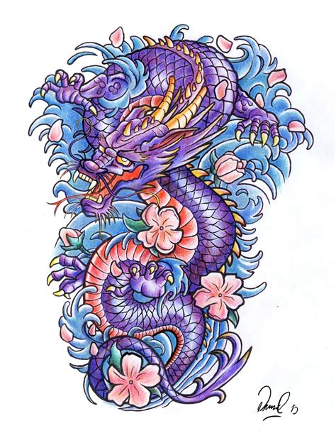 colour tattoo designs dragons tatoo on tattoos japanese