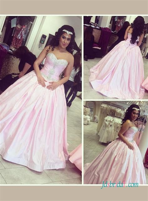 colored prom dresses h1425 sweety pink colored princess gown wedding prom