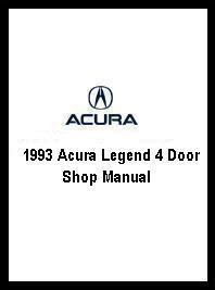 automotive repair manual 1988 acura legend head up display 1993 acura legend 4 door shop manual