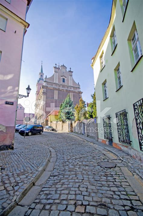 Narrow Street IN Brzeg, Poland stock photos   FreeImages.com