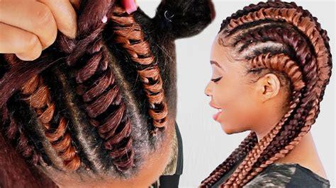 tree braid cornrows  beginners step  step video black hair information