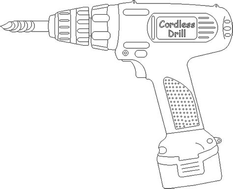Drill Coloring Pages drill free printable tools coloring pages