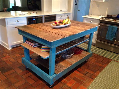 Diy Kitchen Island Table Large Rustic Kitchen Island Country Cottage Buffet By Sameasnever